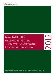 informationsmateriale til sundhedspersonale - Sundhedsstyrelsen