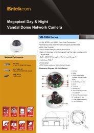 Megapixel Day & Night Vandal Dome Network Camera - Brickcom
