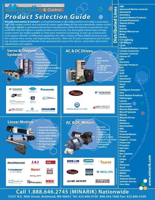 w w w .minarik.com Product Selection Guide du n G i Product ...