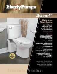 Macerating Toilet System - Liberty Pumps