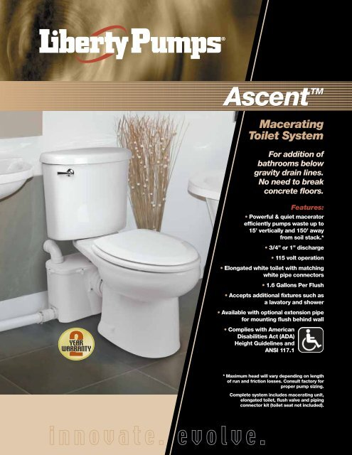 Brilliant Macerating Toilet System Liberty Pumps Spiritservingveterans Wood Chair Design Ideas Spiritservingveteransorg