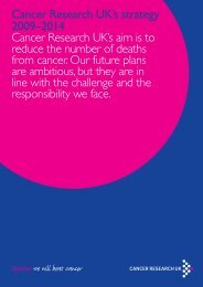 [PDF] Cancer Research UK's strategy 2009 - 2014