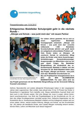 13.03.2013 - Bielefelder Bürgerstiftung