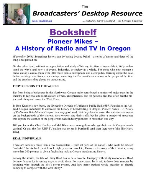 Pioneer Mikes – A History of Radio and Television in Oregon - The