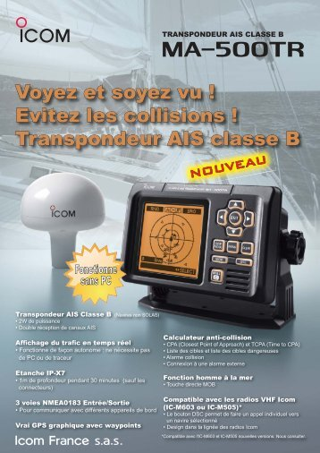 Documentation commerciale MA-500TR ... - Icom France