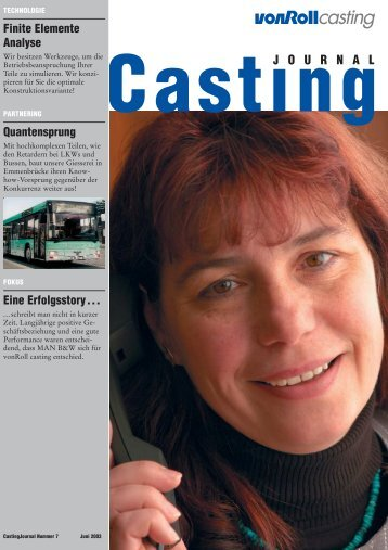 Casting Journal Juni 2003 - vonRoll casting