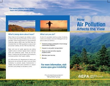 How Air Pollution Affects the View - US Environmental Protection ...
