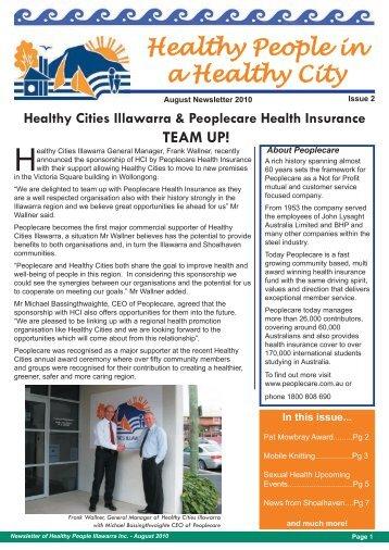 August 2010 - Healthy Cities Illawarra