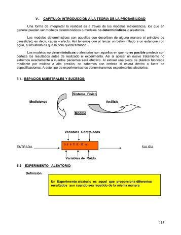 CAPITULO: INTRODUCCION A LA TEORIA DE LA PROBABILIDAD ...