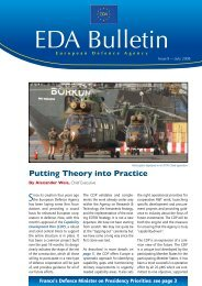 EDA Bulletin 09 - European Defence Agency - Europa