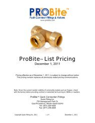 ProBite™ List Pricing - Quick Fitting Inc.