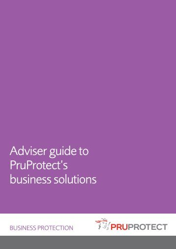 Adviser guide to PruProtect's business solutions