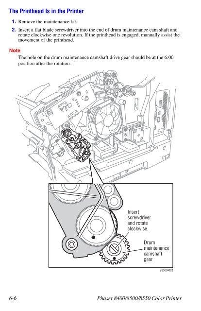 Homing the Head Tilt Gear