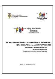 notas explicativas a la arquitectura de datos - Gobierno en línea.