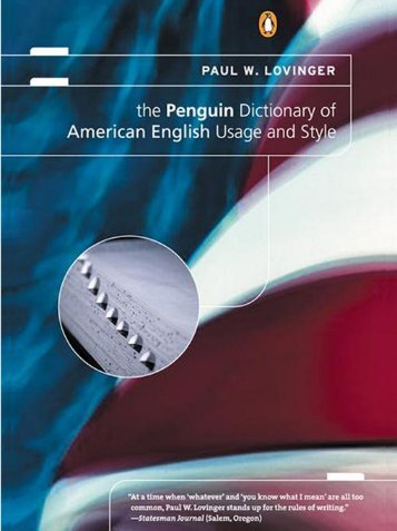 The Penguin Dictionary of American English Usage and Style : A ...