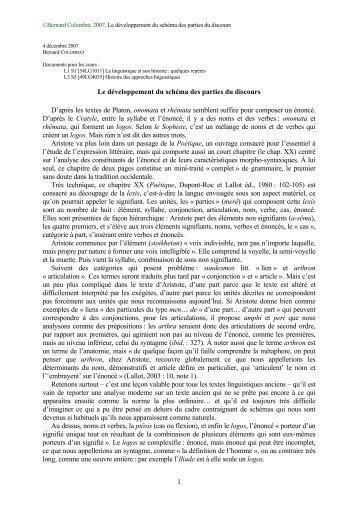 Bernard Colombat - Histoire des théories linguistiques