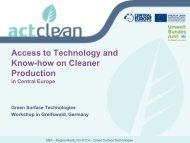 Access to Technology and Know-how on Cleaner ... - Act-clean.eu