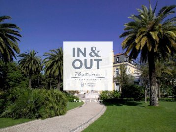 In & Out do Pestana Palace - Pestana Hotels & Resorts