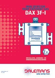 Détecteur DAX 3F-I - Dalemans Gas Detection