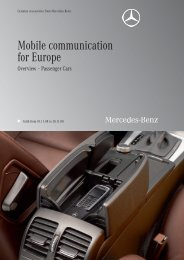 Mobile communication for Europe - Mercedes-Benz.com