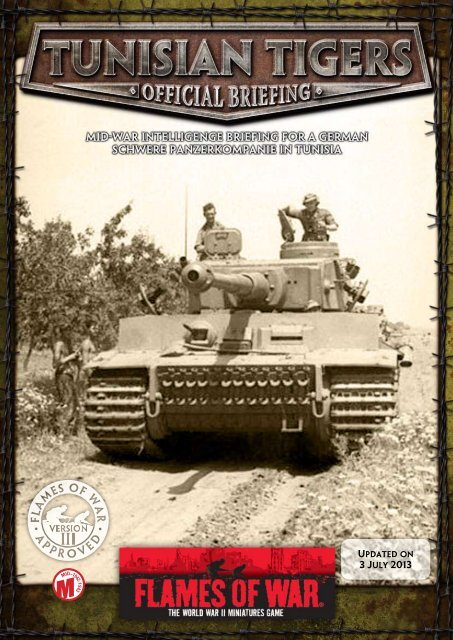 Tunisian Tigers Pdf Flames Of War