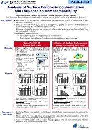 Analysis of Surface Endotoxin Contamination and ... - Manfred Maitz