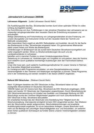 Jahresbericht Lehrwesen 2005/06