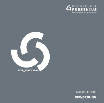 AUSBILDUNG BeWeRBUNG - Hochschule Fresenius