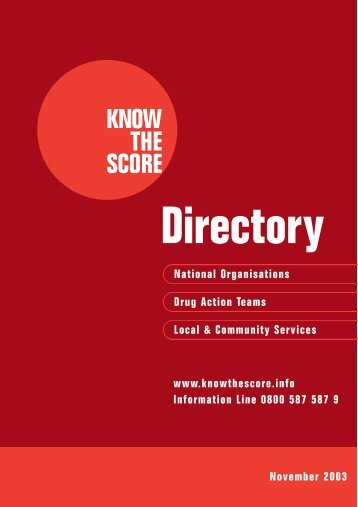 Know the Score - Directory of Services - Playfield Institute