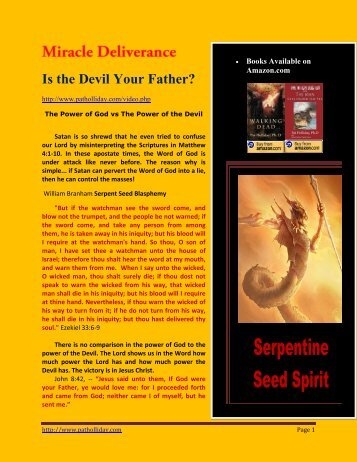 08-30-2011 Your Father the Devil - Remnant Radio Home Page