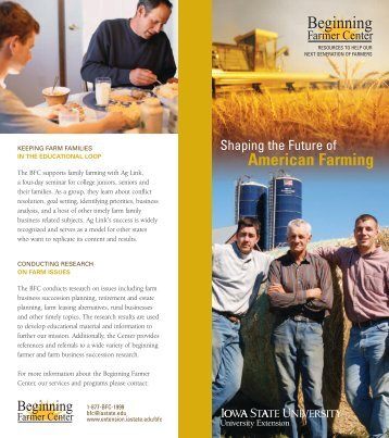 Beginning Farmer Center - Iowa State University