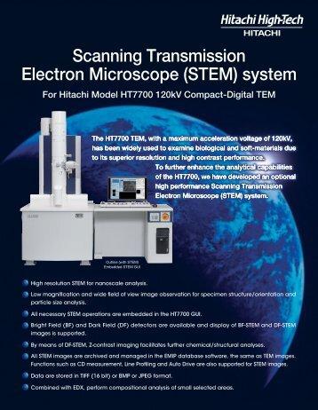 Scanning Transmission Electron Microscope (STEM) system