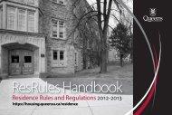 ResRules Handbook - Residences - Queen's University