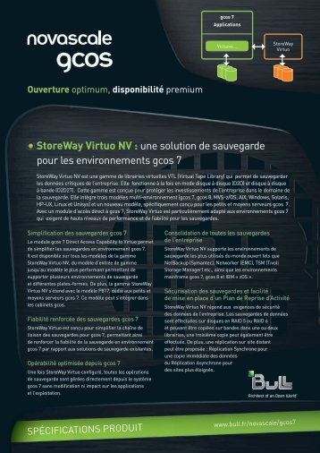 StoreWay Virtuo NV : une solution de sauvegarde pour les ... - Bull