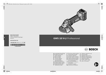 GWS 18 V-LI Professional - Vseinstrumenti.ru
