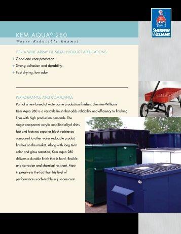 Kem Aqua 280   Sherwin Williams Product Finishes