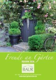 Freude an Gärten - Baur Gartenreisen