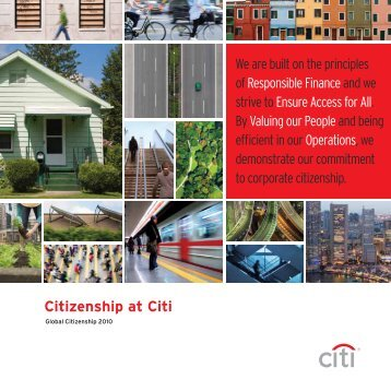 Citizenship at Citi - Citigroup