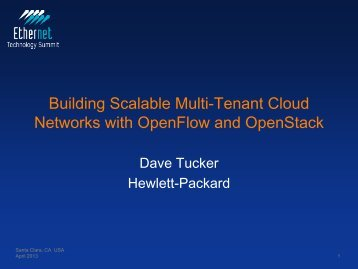 Building Scalable Multi-Tenant Cloud Networks with OpenFlow and ...