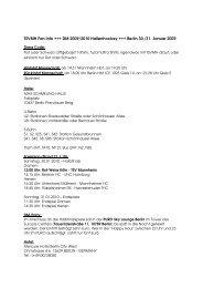 TSVMH Fan Info +++ DM 2009/2010 Hallenhockey +++ Berlin 30./31 ...