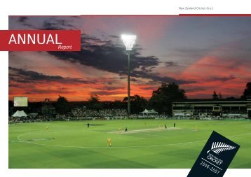 New Zealand Cricket Annual Report 2006 - 2007