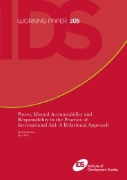 WORKING PAPER 305 - Institute of Development Studies