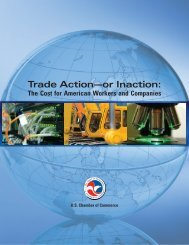 Trade Action—or Inaction: - US Chamber of Commerce