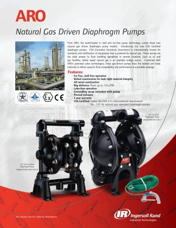 Natural Gas Driven Diaphragm Pumps