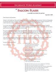 Falcon Flash - Incarnate Word Academy