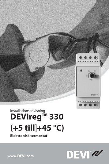 DEVIreg™ 330 (+5 till +45 °C) - Danfoss.com