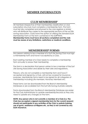 Membership Categories - Warriewood SLSC