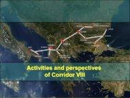 Activities and perspectives of Corridor VIII