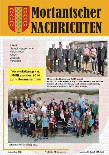 Gemeindenachrichten Dezember 2013 – PDF Download