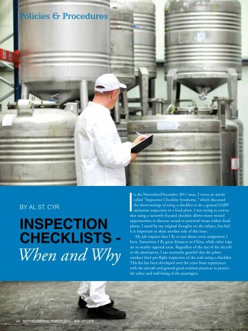 Inspection Checklists - AIB International, Inc.